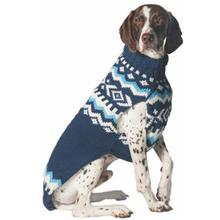 Handmade Nordic Wool Dog Sweater - Blue