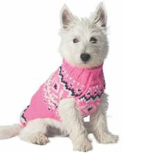 Handmade Nordic Wool Dog Sweater - Pink
