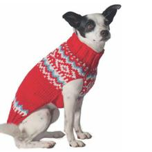 Handmade Nordic Wool Dog Sweater - Red