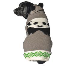 Handmade Panda Hooded Wool Dog Sweater