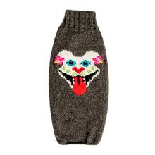 Handmade Bully Sugar Skull Wool Dog Sweater - Gray