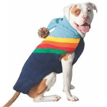 Handmade Rainbow Wool Dog Hoodie Sweater