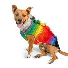 Handmade Rainbow Mohawk Wool Dog Sweater