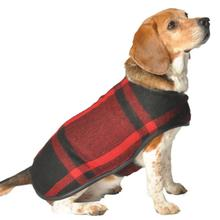 Handmade Red Plaid Wool Blanket Dog Coat