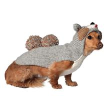 Handmade Squirrel Hooded Wool Dog Sweater