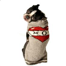Handmade Tattooed Mom Wool Dog Sweater