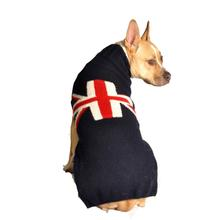 Handmade Union Jack Wool Dog Sweater