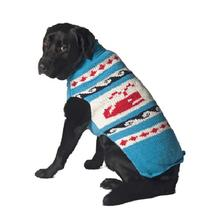 Handmade Whale Wool Dog Sweater - Blue