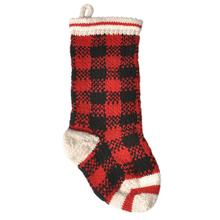 Handmade Wool Christmas Dog Stocking - Buffalo Plaid