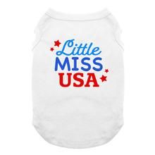 Little Miss USA Dog Shirt - White