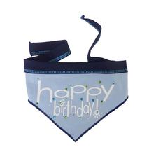Happy Birthday Dog Bandana Scarf - Sky Blue