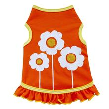 Happy Flowers Dog Dress - Orange