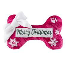 Merry Christmas Puppermint Bone Dog Toy by Haute Diggity Dog