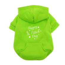 Happy St. Patrick's Day Dog Hoodie - Green