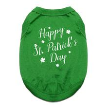 Happy St. Patrick's Day Dog Shirt - Green