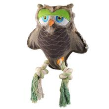 Happy Tails Critterz Canvas Dog Toy - Owl