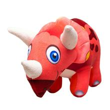 Happy Tails Doodles Dinosaur Dog Toy - Tri-Horn