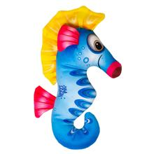 Happy Tails Doodles Plush Dog Toy - Seahorse