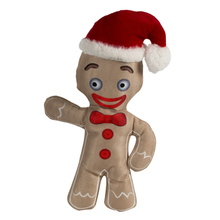 Happy Tails Holiday Durable Dog Toy - Gingerbread Man