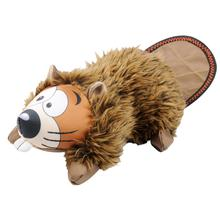 Happy Tails Loonies Durable Dog Toy - Beaver