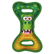 Happy Tails Loonies Tug N Play Durable Dog Toy - Crocodile