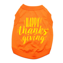 Happy Thanksgiving Dog Shirt - Orange