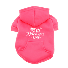 Happy Valentine's Day Dog Hoodie - Pink