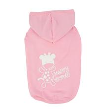 Happy World Hooded Dog Shirt by Puppia - Pink