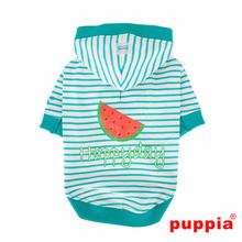 Happyday Hooded Dog Shirt by Puppia - Aqua