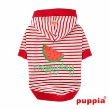 Happyday Hooded Dog Shirt by Puppia - Red