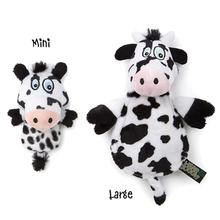 HEAR DOGGY! Flatties with Ultrasonic Squeaker Dog Toy - Cow