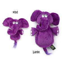 HEAR DOGGY! Flatties with Ultrasonic Squeaker Dog Toy - Elephant