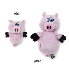 HEAR DOGGY! Flatties with Ultrasonic Squeaker Dog Toy - Pig