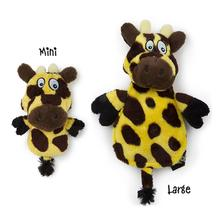 HEAR DOGGY! Flatties with Ultrasonic Squeaker Dog Toy - Giraffe