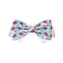 Ice Cream Dog Shirt Collar and Bow Tie - Blue