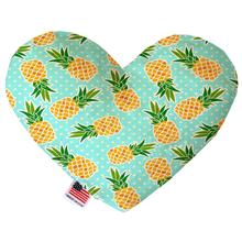 Heart Dog Toy - Pineapples and Polka Dots
