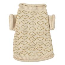 Heart to Heart Dog Sweater By Oscar Newman - Beige