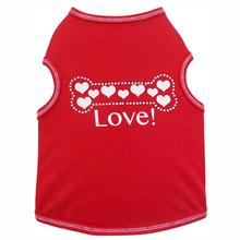 Hearts Bone Dog Tank - Red