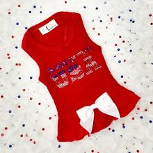 Hello Doggie Born in the USA Dog Dress - Red
