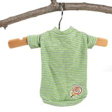 Hello Doggie Candy Striped Dog Shirt - Green