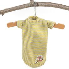 Hello Doggie Candy Striped Dog Shirt - Yellow
