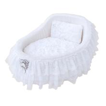 Hello Doggie Crib Dog Bed - Snow White
