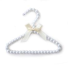 Hello Doggie Pearl Dog Fashion Hanger - Ivory