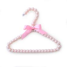 Hello Doggie Pearl Dog Fashion Hanger - Pink