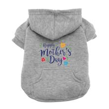 Happy Mother's Day Dog Hoodie - Gray