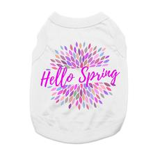 Hello Spring Dog and Cat Shirt - White