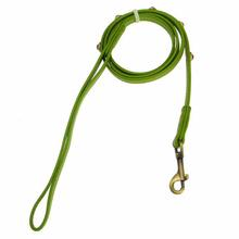 Hematite Pebbles Dog Leash - Green