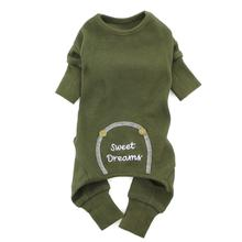 Sweet Dreams Thermal Dog Pajamas by Doggie Design - Herb Green