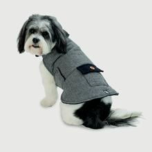 New Canaan Dog Coat - Gray Herringbone