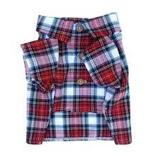 Patriotic Plaid Dog Shirt by Dog Threads